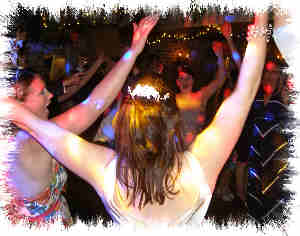 wedding dj, mobile disco cranbrook, arms in air dancing image